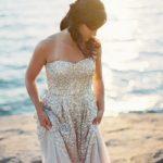 Gold Glitter Wedding Dress