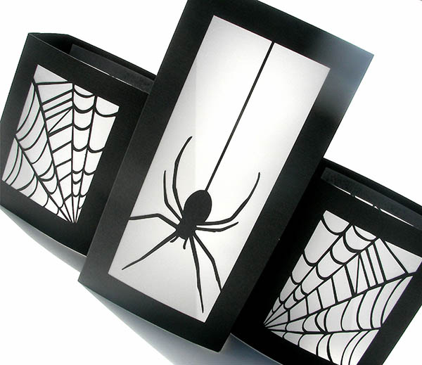 Love these Spider Luminaries For halloween