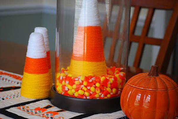 Love this Candy Corn Centerpiece