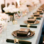 Lovely Black And Gold Tablescape