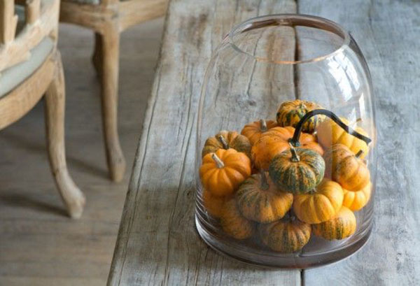 Lovely Fall Pumpkins in this Jar
