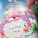 Rainbow Mints For Birthday Party