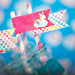 Rainbow Unicorn Flag Straws