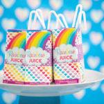 Rainbow Unicorn Juice Boxes