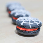 These are amazing spider web macaroons for Halloween