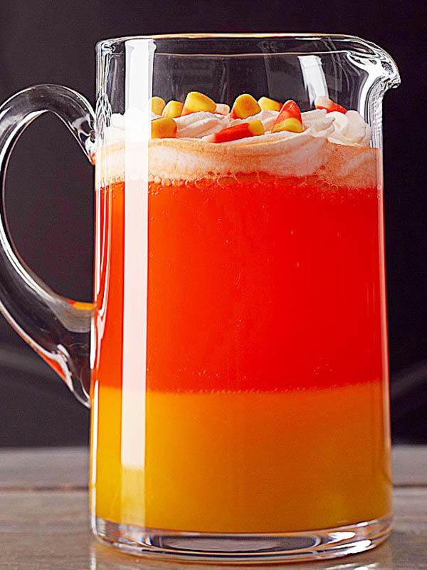 Yum! Candy Corn Halloween drink