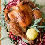 Cranberry and Sage Turkey Platter Decorations