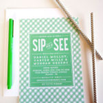 Cute Green Sip And See