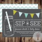 Cute mason jar sip and see invite