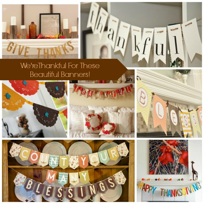 DIY & Free Thanksgiving Banners! -B. Lovely Events