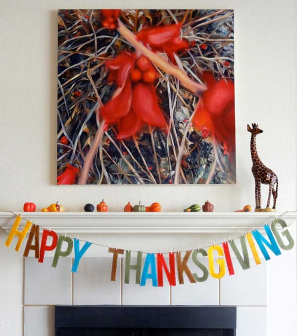 DIY Happy Thanksgiving Banner