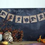DIy Silhouette Thanksgiving Banner