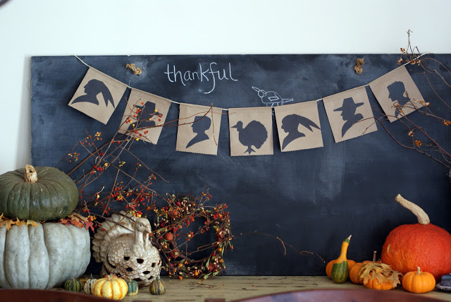 DIy Silhouette Thanksgiving Banner