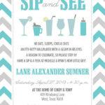 Darling Sip and See Invitation