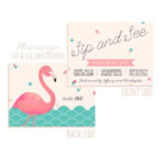 Flamingo Sip and See Invitation