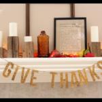 Gold Glitter Give Thanks banner for Thanksgiving!
