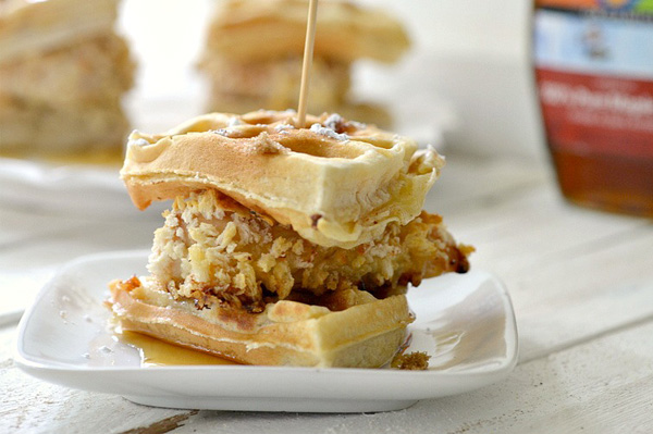 Mini Chicken and Waffles- The best!