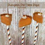 Pumpkin Pie Cake Pops!