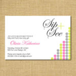 Sip and See Modern Invitation