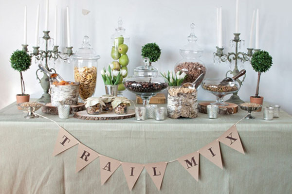 Trail Mix bar For A wedding!