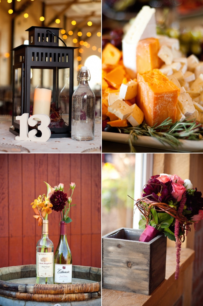 Vineyard Themed Wedding Decor