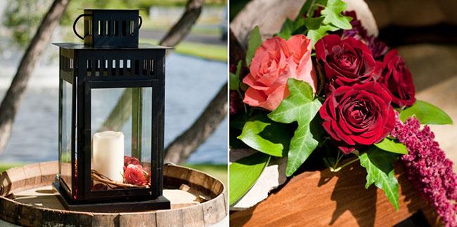 Vineyard theme wedding details