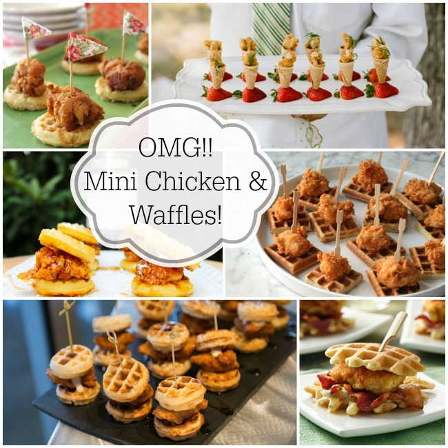 We Love Mini Chicken And Waffles - B. Lovely Events