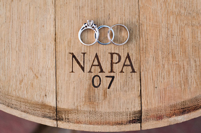 Winery Wedding Ring Shot