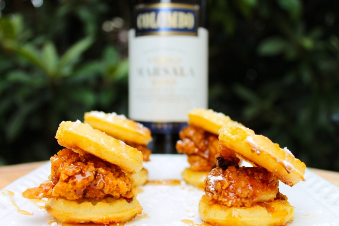 Yum! mini chicken and waffles