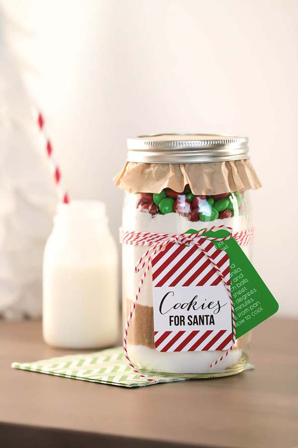 Adorable Cookies For Santa In A JAr