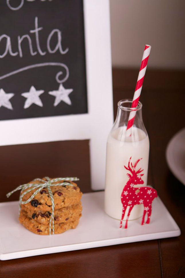 Amazing Milk and cookie set up for Santa