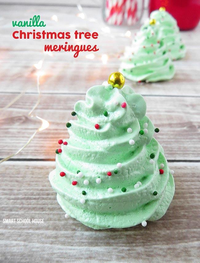 Christmas Tree Meringues!