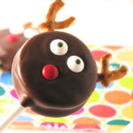 Cute Chocolate covered oreo reindeer pop