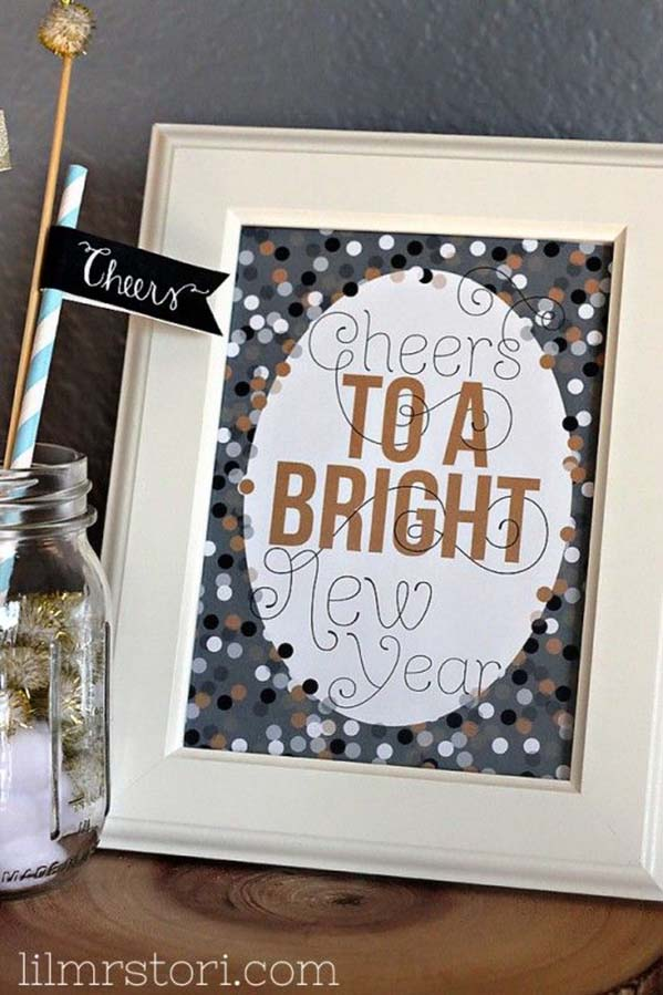 Cute & Free New years eve sign
