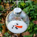 Cute melted Snowman ornament!
