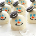 Cute melted snowman oreo balls
