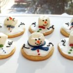 Darlng melted snowman cookies!