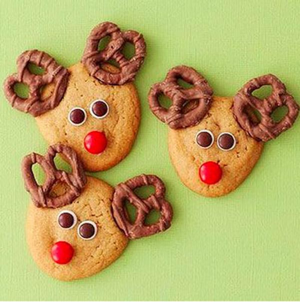 Easy and cute reindeer cookies