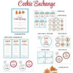 Free Printable set For A Holiday Cookie Exchange