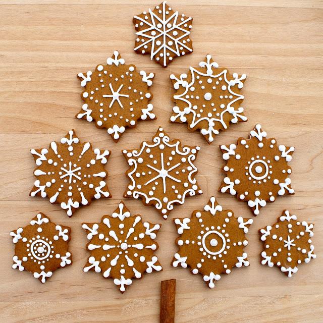 Gingerbread Snowflake Cookies!