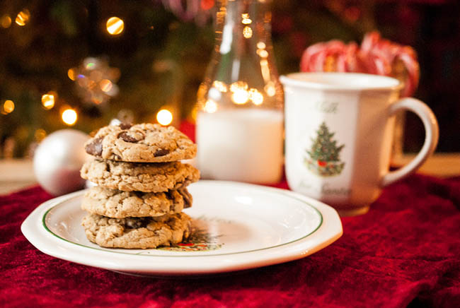 In love with these milk and cookies for santa