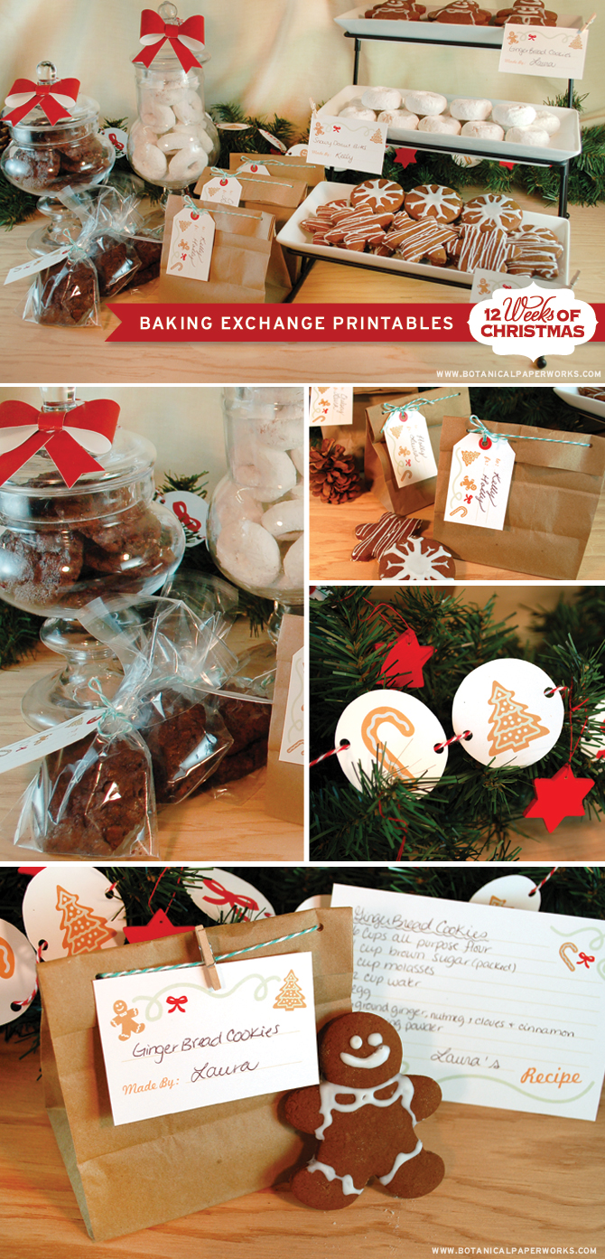 Love these Free Printables For A Cookie exchange