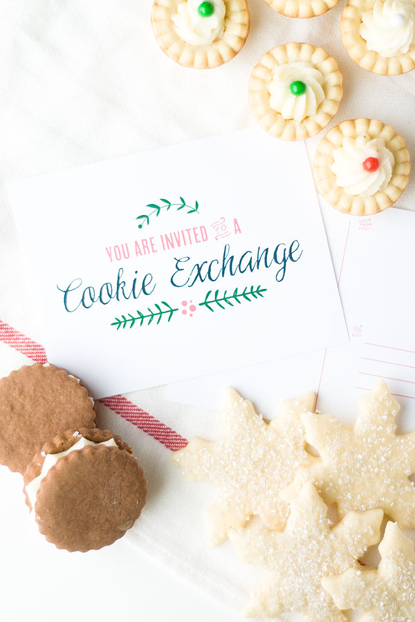Lovely Cookie Exchange Free Printable Set