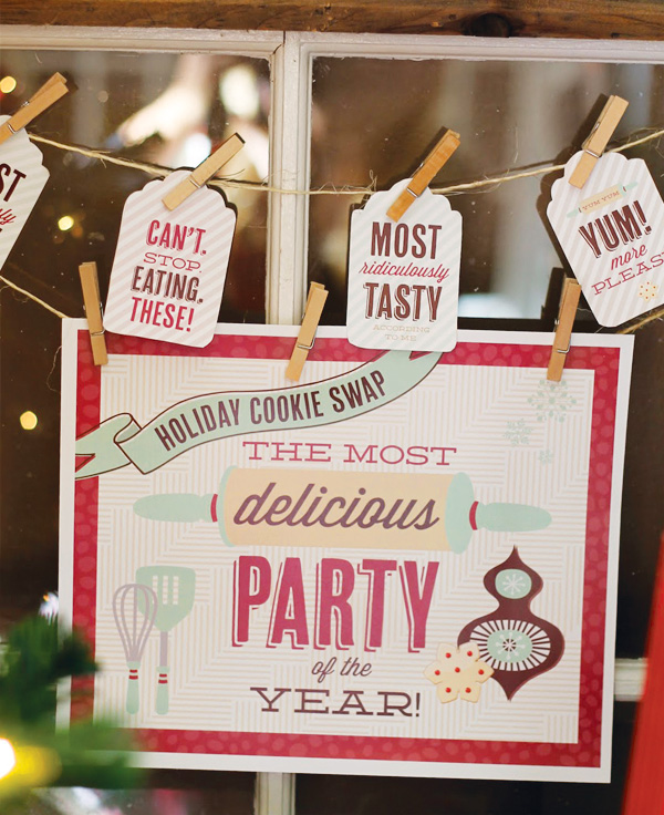 Day 6 Cookie Exchange Free Printables B Lovely Events