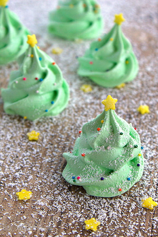 Lovely frosted christmas Meringues