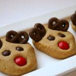 Peanut Butter reindeer cookies with Pretzels