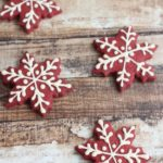 Red Velvet Snowflake Cookies!