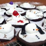 Some adorable melted snowman cookies