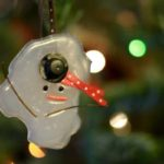 Such a cute melted snowman ornament!