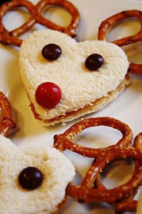 Yummy Reindeer sandwiches